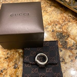 Authentic Gucci ring sterling silver 925